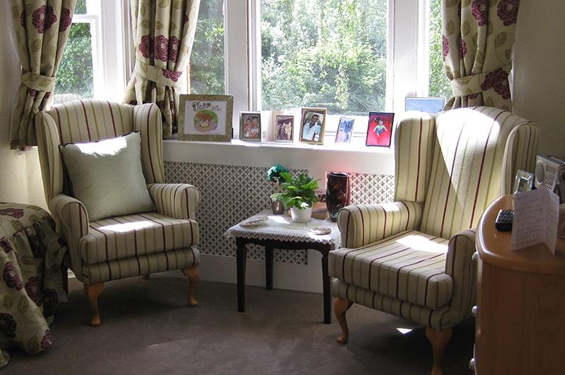 Nettlestead care home room
