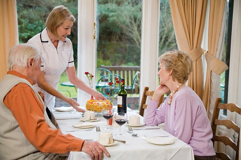Nettlestead care home dinner