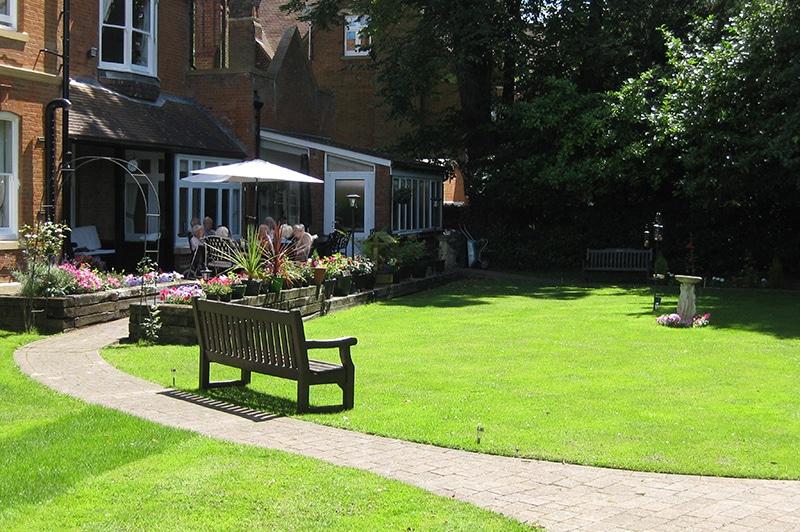 Nettlestead care home garden